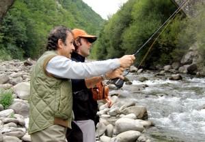 Corsi di lancio di pesca a mosca